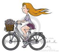 romantisch-meisje-op-fiets-33966267